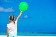 Adorable little girl with balloon outdoor Stock Images