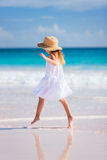 Adorable little girl at beach Royalty Free Stock Photos