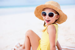 Adorable little girl at beach Royalty Free Stock Photo
