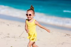 Adorable little girl at beach Stock Photography