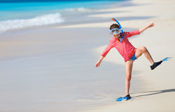 Adorable little girl at beach Royalty Free Stock Images