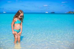Adorable little girl at beach during summer Royalty Free Stock Images