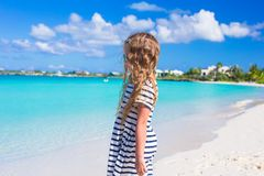 Adorable little girl at beach during summer Royalty Free Stock Image