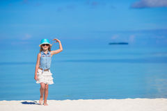 Adorable little girl at beach during summer. Cute little girl at beach during summer vacation Stock Photography
