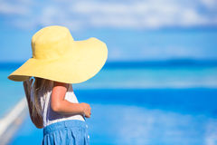 Adorable little girl at beach during summer Royalty Free Stock Photography