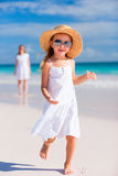 Adorable little girl at beach Royalty Free Stock Image