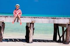 Adorable little girl at beach Royalty Free Stock Photos
