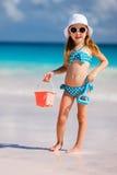 Adorable little girl at beach Stock Photography