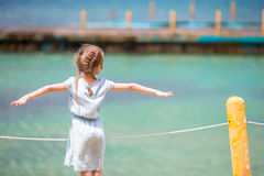 Adorable little girl at beach during summer vacation Royalty Free Stock Image