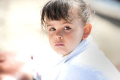 Adorable little girl on beach vacation. Stock Photography