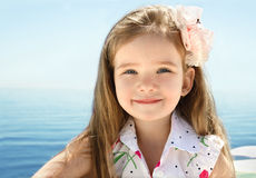 Adorable little girl on beach vacation Royalty Free Stock Photo