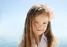 Adorable little girl on beach vacation Stock Photography