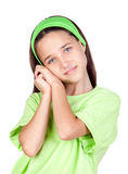 Adorable little girl with blue eyes Stock Photos