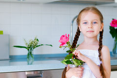Adorable little girl with braids Royalty Free Stock Image