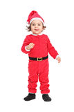 Adorable little girl in Christmas costume Stock Image
