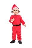 Adorable little girl in Christmas costume Stock Image