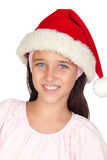 Adorable little girl with Christmas cup Stock Images