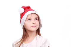 Adorable little girl in Christmas time Stock Images