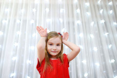 Adorable little girl on Christmas time Stock Photos
