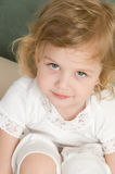 Adorable little girl  closeup. Adorable little girl  in the bed closeup Stock Photography
