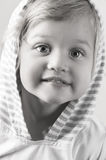 Adorable little girl closeup. Adorable little girl looking ahead closeup Stock Photography