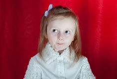Adorable little girl - closeup portrait Royalty Free Stock Image