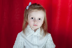 Adorable little girl - closeup portrait Royalty Free Stock Photo