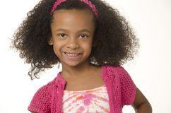 Adorable little girl with curly hair Royalty Free Stock Photo