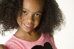 Adorable little girl with curly hair Royalty Free Stock Images