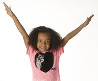 Adorable little girl with curly hair Stock Photo