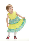 Adorable little girl dancing Stock Photography