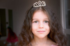 Adorable little girl dressed as a princess Stock Images