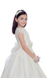 Adorable little girl dressed in communion Royalty Free Stock Image
