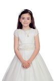 Adorable little girl dressed in communion Royalty Free Stock Images