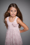 Adorable little girl with flowing hair Stock Images