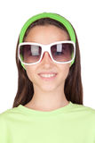 Adorable little girl with funny sunglasses Stock Photos