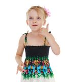 Adorable little girl gesturing Royalty Free Stock Images