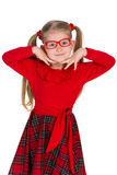 Adorable little girl in glassess Stock Photos