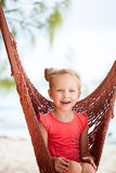 Adorable little girl in hammock Royalty Free Stock Photography