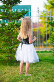 Adorable little girl happy outdoor at summer time Stock Photos