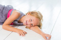 Adorable little girl in her room Royalty Free Stock Photography