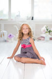 Adorable little girl in her room Stock Photography