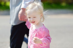 Adorable little girl holding hand of her gran Royalty Free Stock Photo