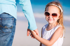 Father and daughter holding hands Royalty Free Stock Photos
