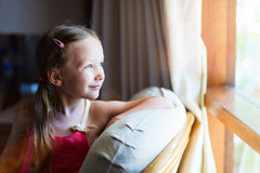 Adorable little girl at home Stock Image