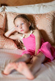 Adorable little girl at home Stock Photos