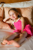 Adorable little girl at home Royalty Free Stock Photography