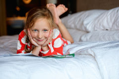 Adorable little girl at home Royalty Free Stock Photos