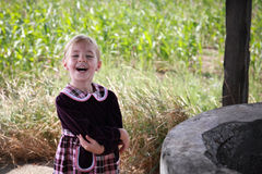 Adorable little girl laughing Royalty Free Stock Photos