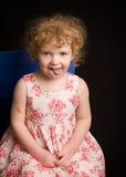 Adorable little girl making a silly face. Little four year old girl making silly faces Royalty Free Stock Photos